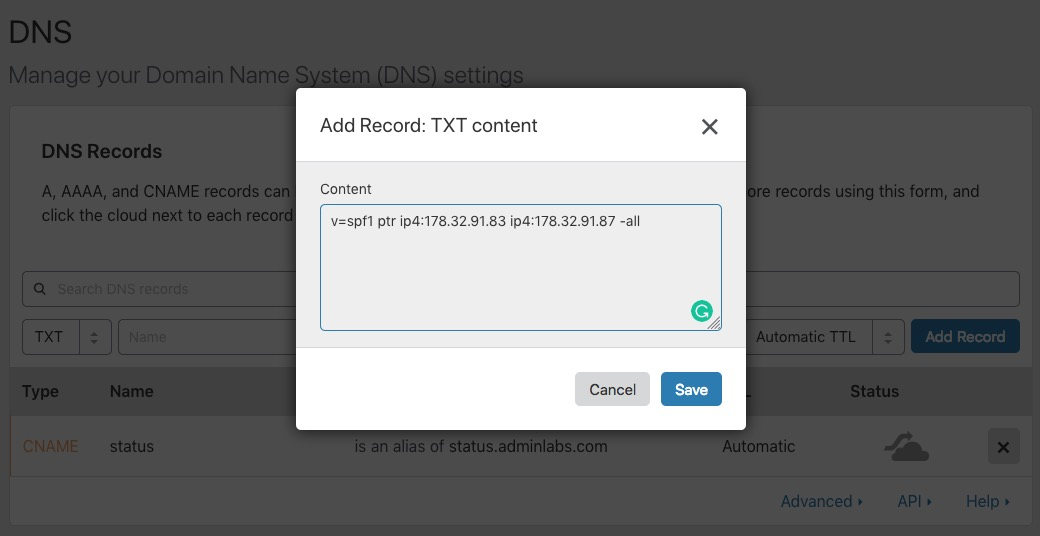 How to setup custom email domain - Admin Labs